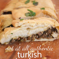 Not At All Authentic Turkish Spiced Meat Pizza