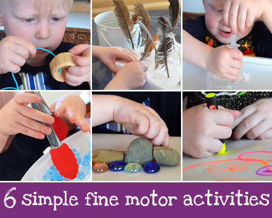 Six simple fine motor activities picklebums for Motor skills development in early childhood