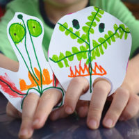 Finger Leg Puppets – Free Printable Template