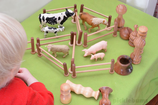 farm imaginative play setup