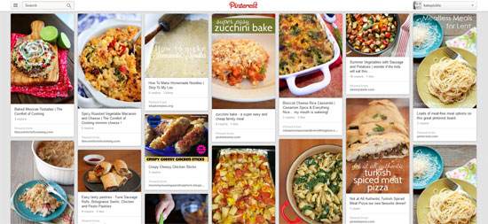Meal Planning With Pinterest.