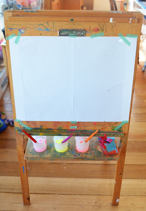 painting easel for see-through painting