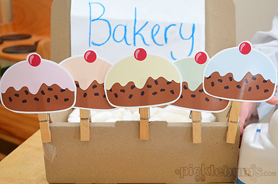 Five Currant Buns - free printable puppets!