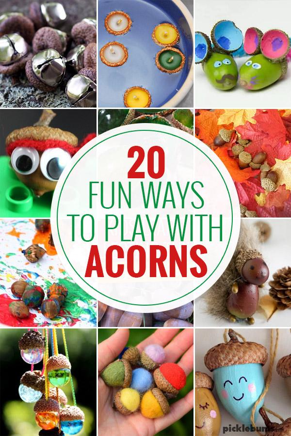 fun ways to play with acorns