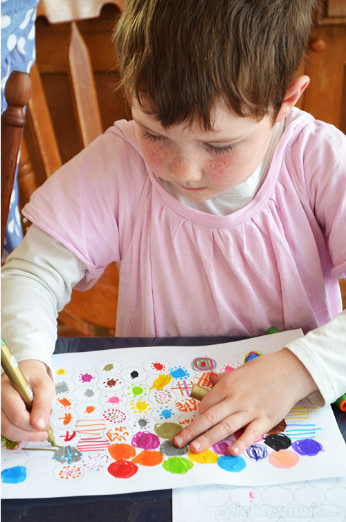 Graph Paper Drawing - and easy art activity where art and maths combine.