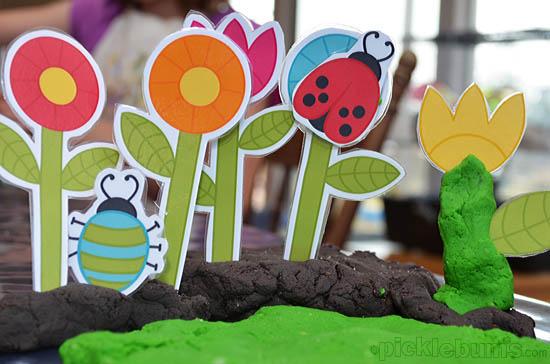 printable playdough garden