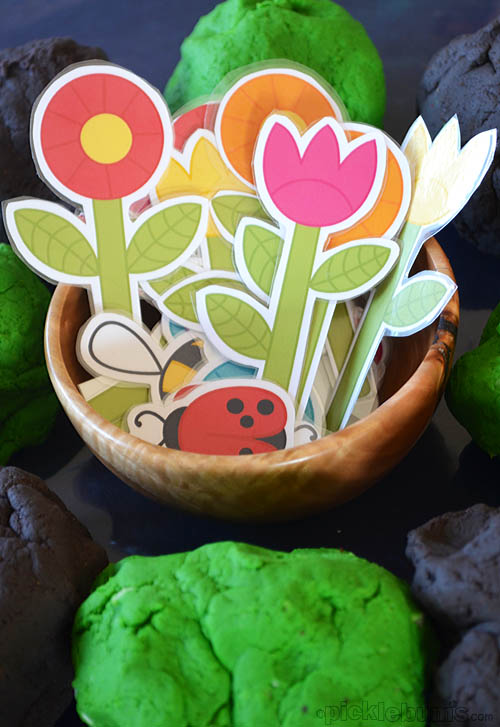 printable playdough garden
