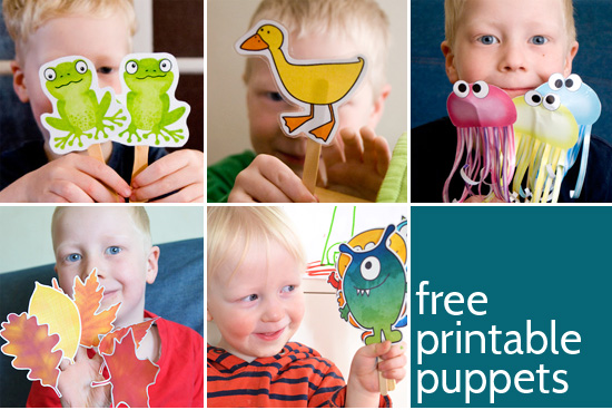 Printable Puppets - 6 different sets of free printable puppets from picklebums,.com