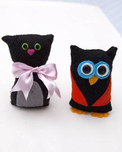 Owl & pussycat craft by Red Ted At