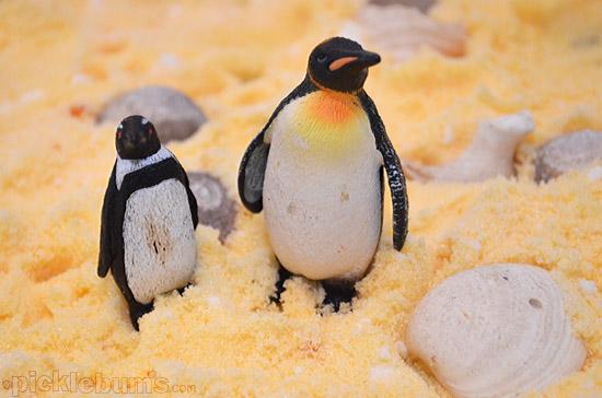 The Beach - coloured salt imaginative play scene