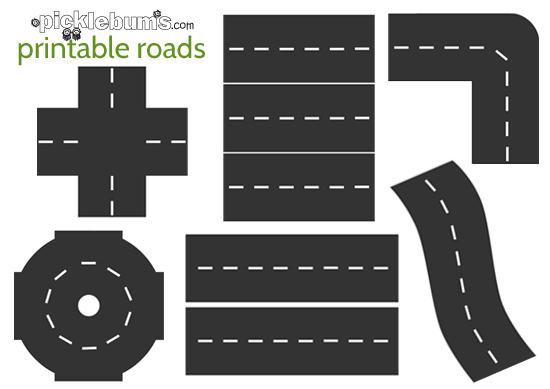 Satisfactory image within printable roads