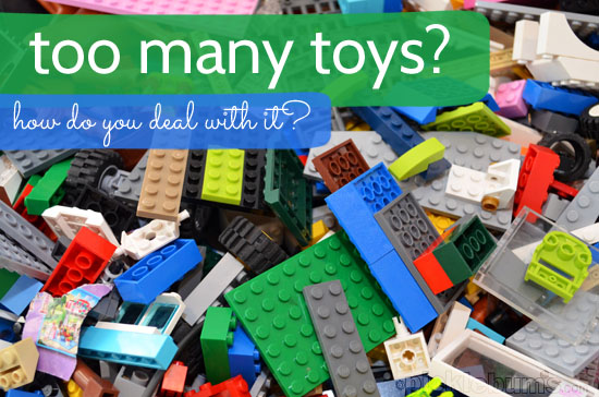 How much is too much? How to do you deal with the influx of toys and do you worry about what it is teaching your kids?