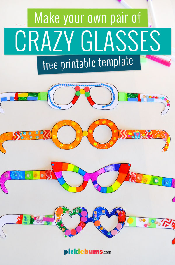 crazy glasses craft