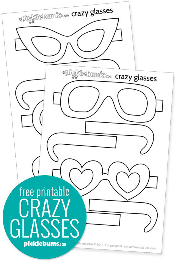 Free printable glasses crafy template