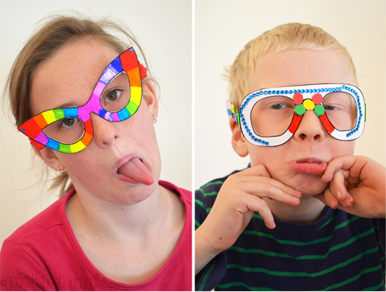Free Printable Crazy Glasses - download, print and decorate!