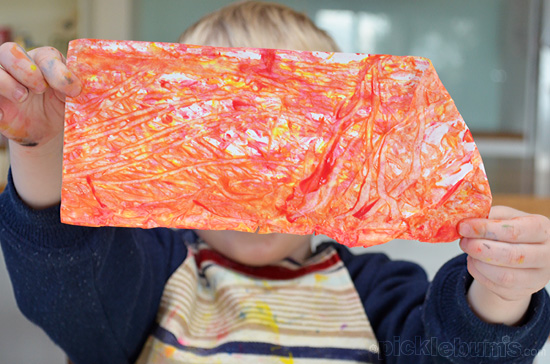 Shaker Painting - an easy, low mess, art activity
