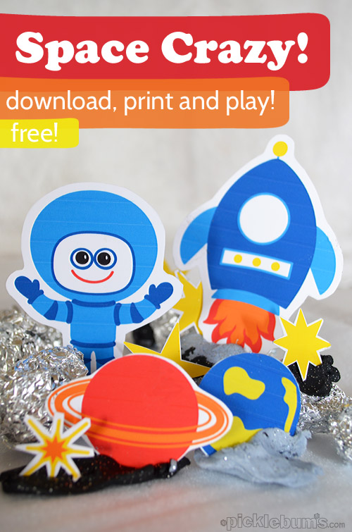 space crazy free printable space characters picklebums