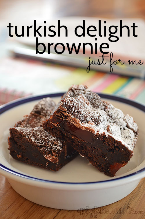 Turkish Delight Brownies - a treat for all the Turkish dleight lovers!