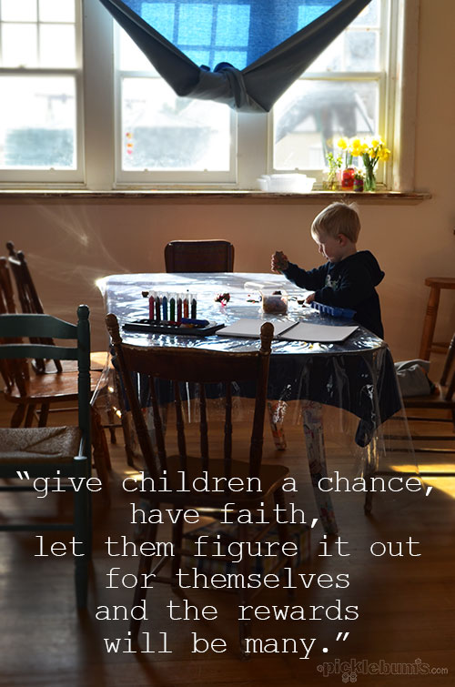 A lesson in letting kids figure it out on their own...