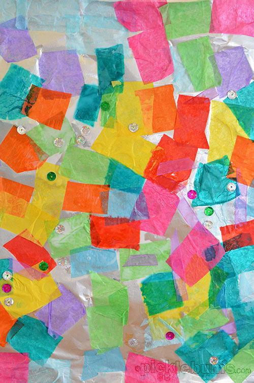 tissue paper collage on canvas Diy canvas photos using tissue paper best way to put the tissue paper onto the canvas was putting canvas photos using tissue paper a collage made.