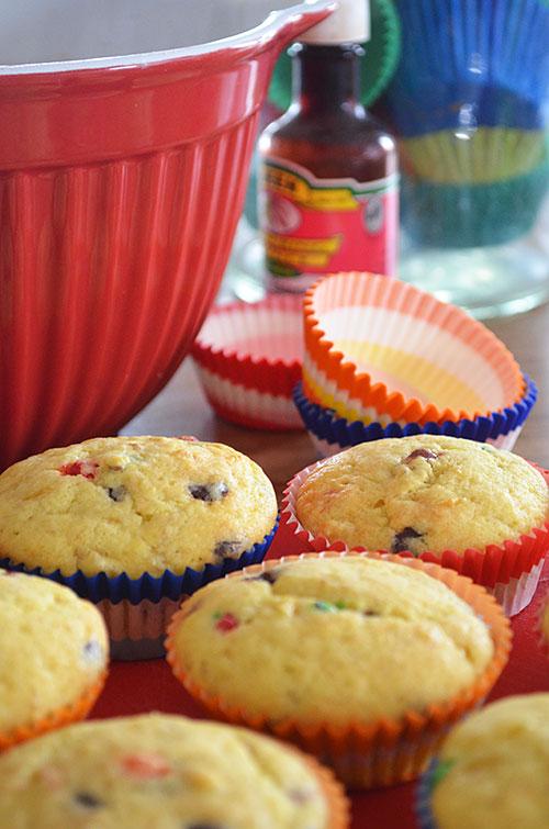 Banana milkshake muffins... these takes like our awesome version of banana milkshakes... so yum!