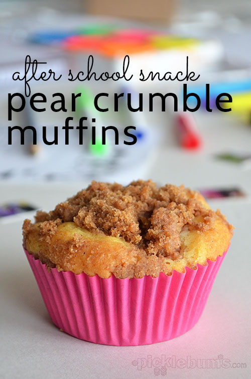 Pear Crumble Muffins - great after school snack!