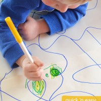 collaborative doodle drawing - a quick and easy activity