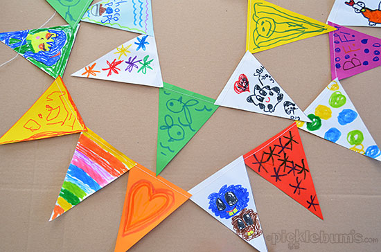 super easy kid-made bunting - with a free printable template