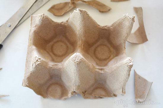 Make a super easy egg carton mask