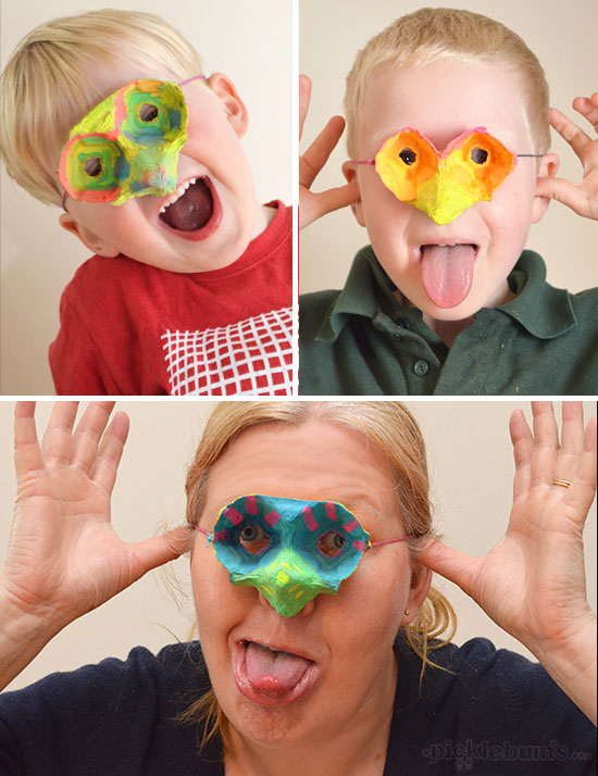 Make a super easy egg carton mask