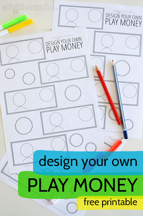 graphic relating to Printable Play Money Template called Style and design Your Private Printable Engage in Cash - Pickles