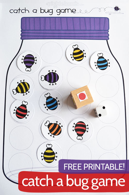 Catch a Bug! Free Printable Game.