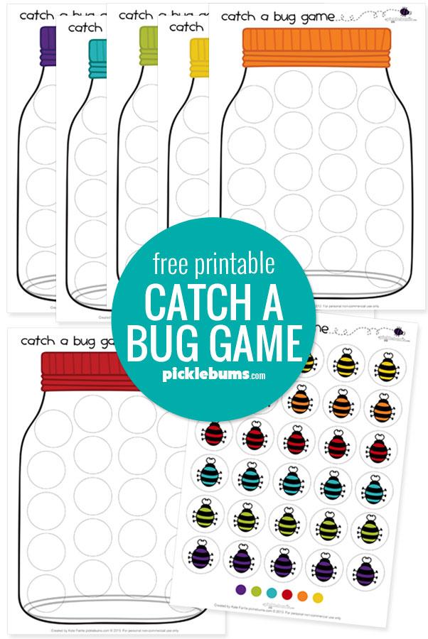 Catch a bug game printable sample