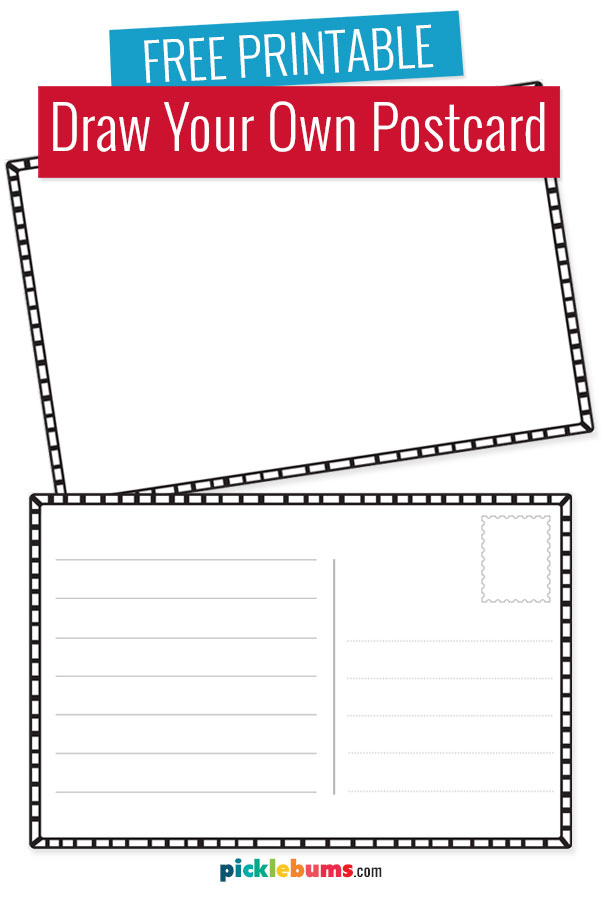 Draw your own postcard free printable for kids