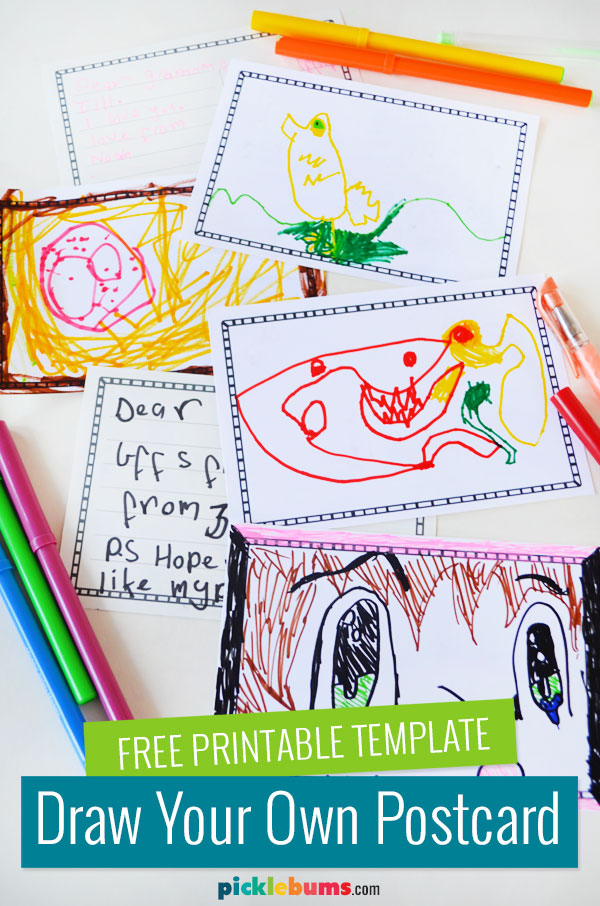 printable postcards made by kids