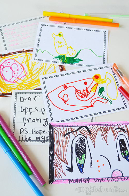 Draw Your Own Postcard - a free printable postcard template