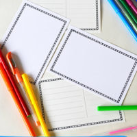 Draw Your Own Postcard - a frree printable postcard template