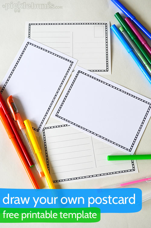 Draw Your Own Postcard   A Free Printable Postcard Template  Postcard Template Free Printable