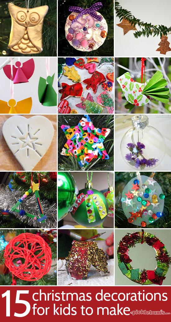15 Christmas decorations for kids to make
