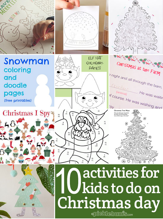 ten easy activities for the kids to do on christmas day