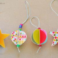 Free printable paper christmas ornaments