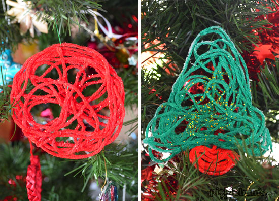 make some gluey christmas decoration messy but easy homemade decorations