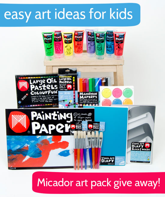 East Art Ideas for Kids - Aussies can win a Micador Art pack with everything you need to try out these activities