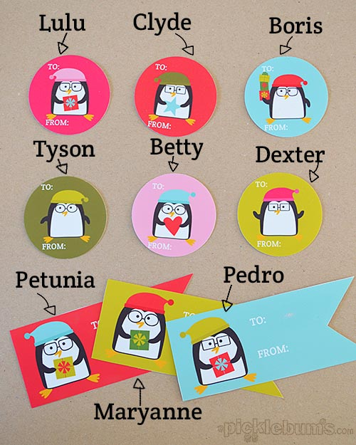 2013 Christmas Printables – Penguin Tags!