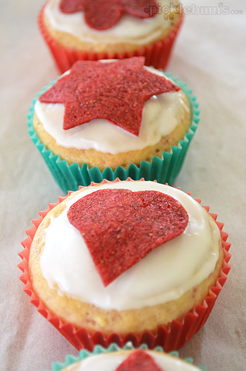 Easy Lemon and Strawberry Muffins.