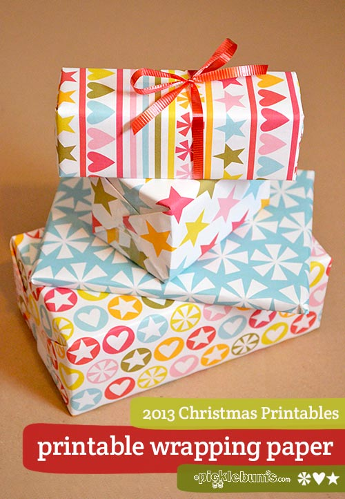 2013 Christmas Printables -printable wrapping paper!