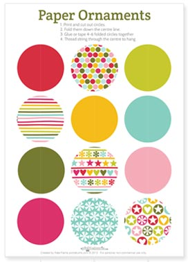 image relating to Ornaments Printable identify 2013 Xmas Printables - Star and Circle Paper