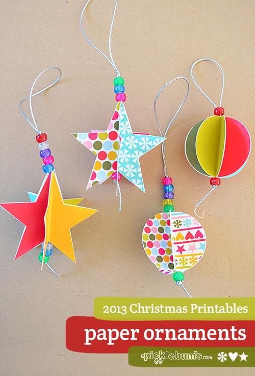 2013 christmas printables star and circle paper for How to make paper christmas decorations at home