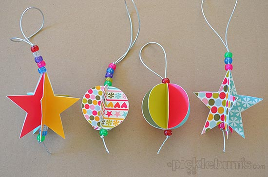 2013 Christmas Printables Star And Circle Paper Decorations Picklebums