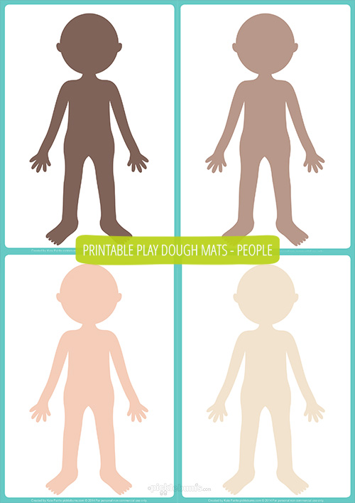People Play Dough Mats - Free Printable !